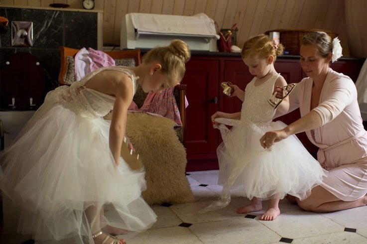 Kleding voor de bruidsmeisjes