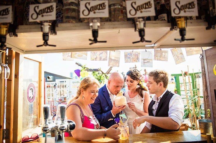 Cocktailbar voor bruiloft