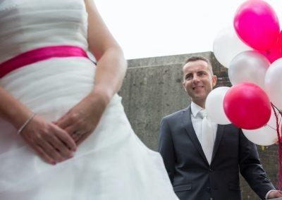 Een mooi moment: wanneer jullie elkaar voor het eerst zien op jullie bruiloft!