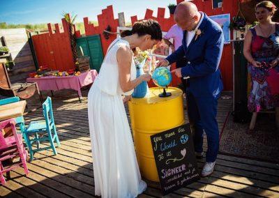 Een wereldbol als origineel gastenboek voor je bruiloft