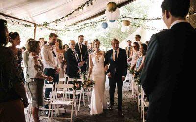 Stoelindeling tijdens de trouwceremonie