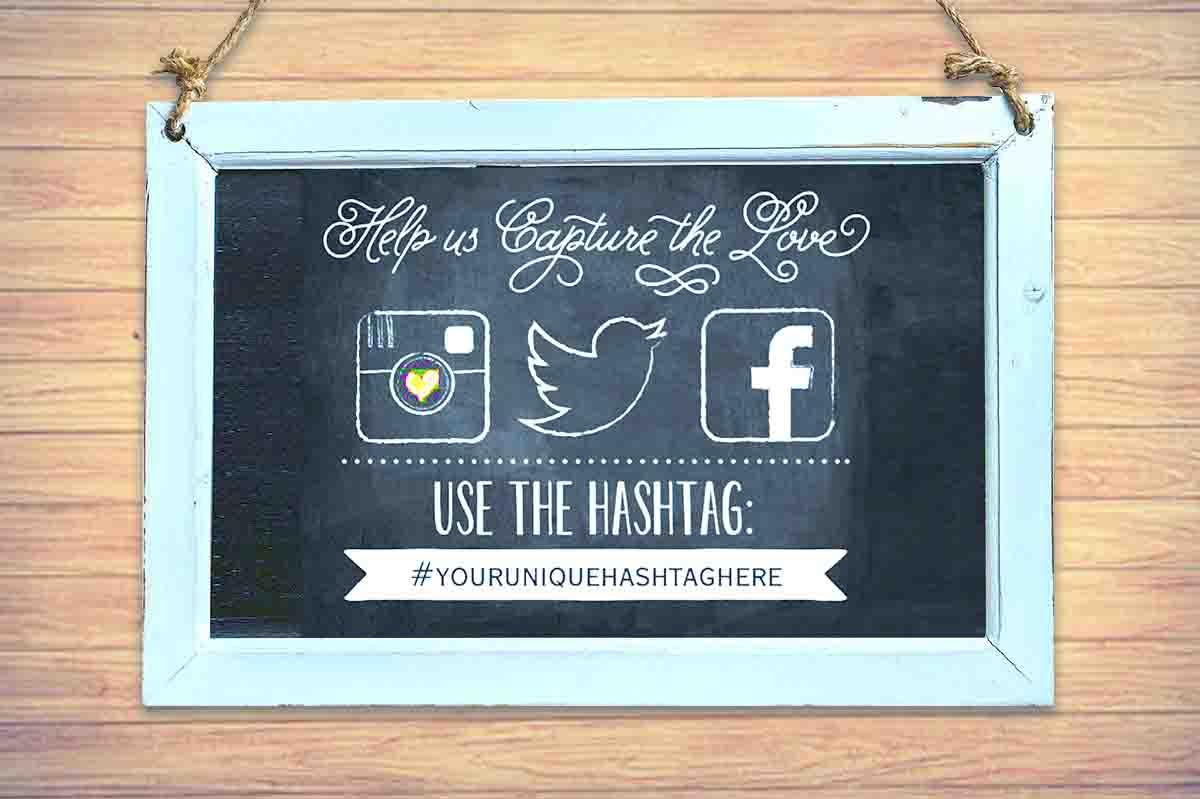 Een eigen hashtag voor je bruiloft