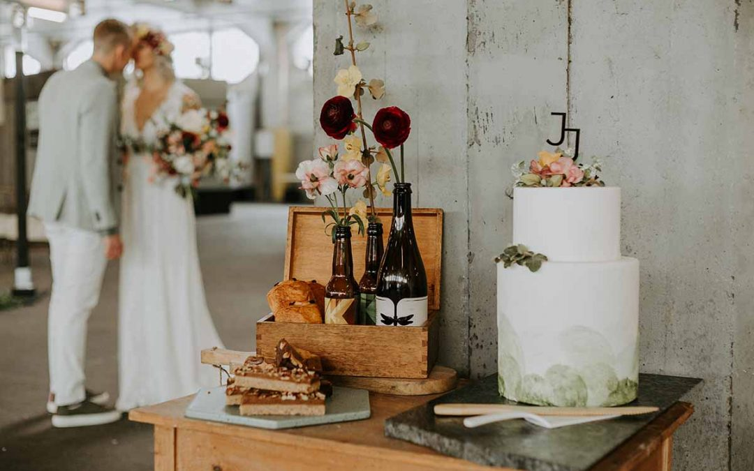 Een naked cake als bruidstaart