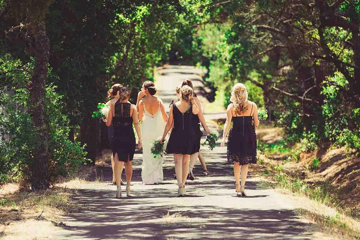 Bruidsmeisjes als eenheid