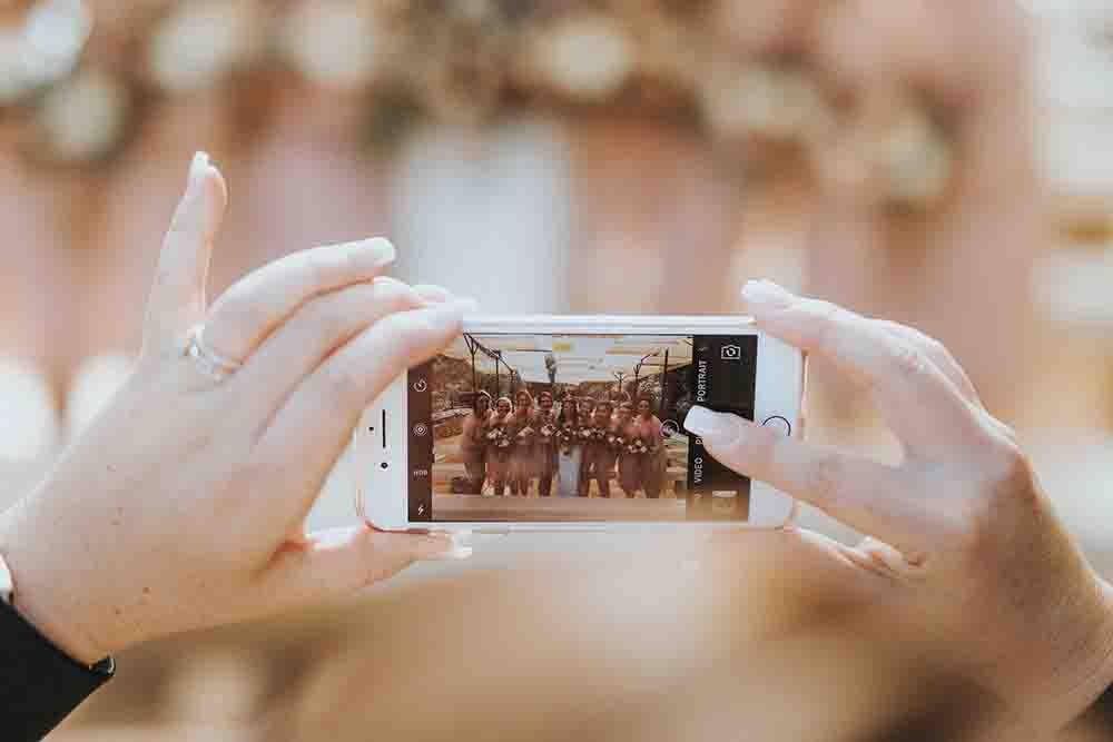 Foto's huwelijk op social media