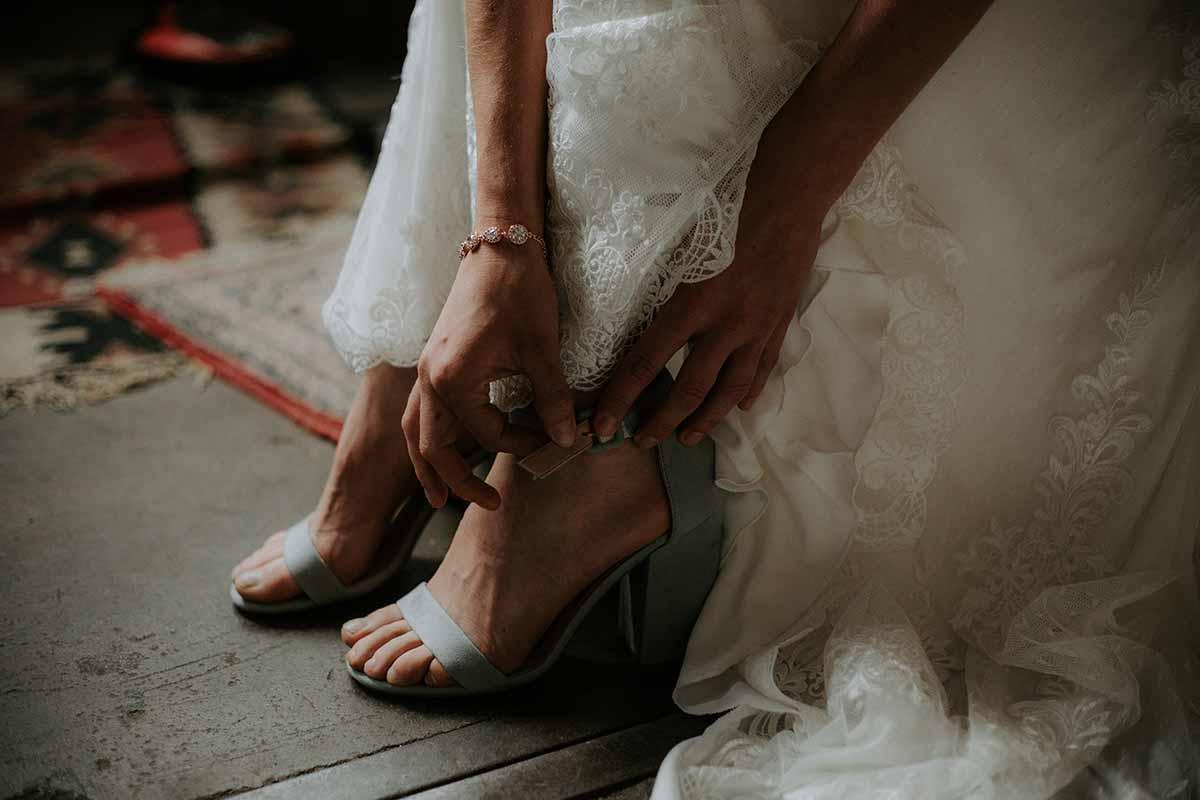 Keuze trouwschoenen voor een zwangere vrouw