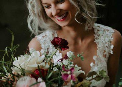 Perfect matchende verse bloemen voor de bruid