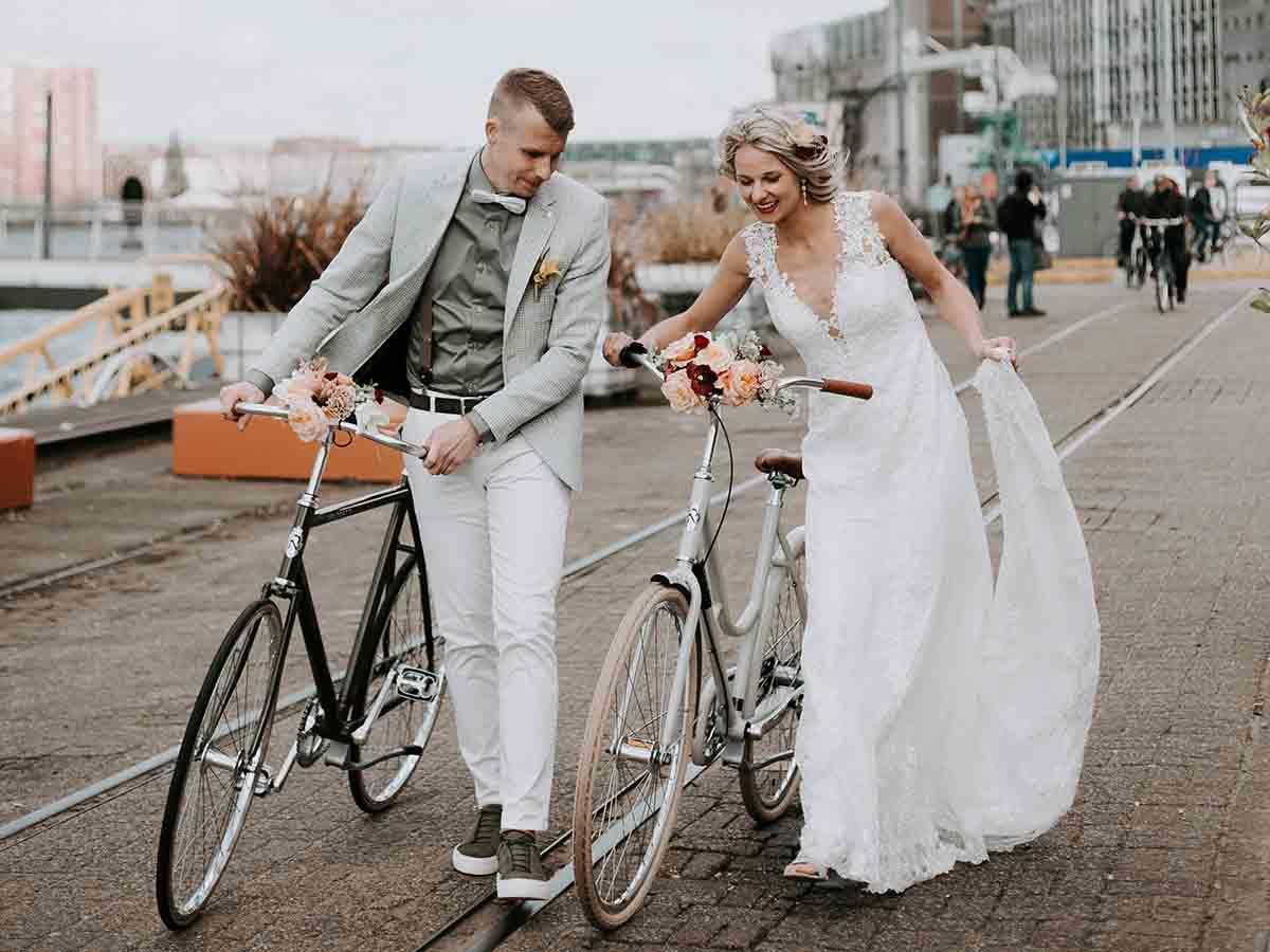 Een hippe stadse bruiloft