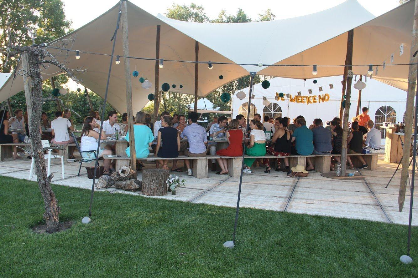 Bruiloft camping Buitengoed de Boomgaard