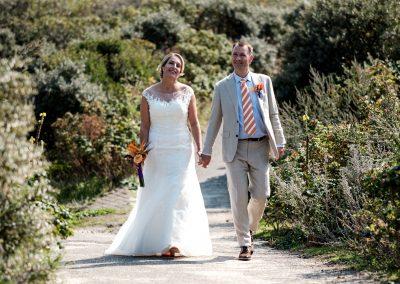 Fotoshoot bruidspaar duinen Kijkduin
