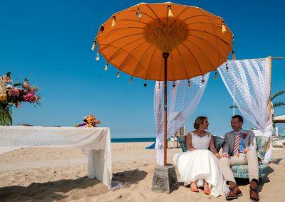 Backdrop trouwen op het strand