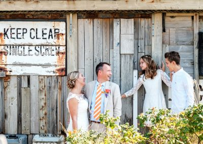 Foto's bruidspaar met gezin