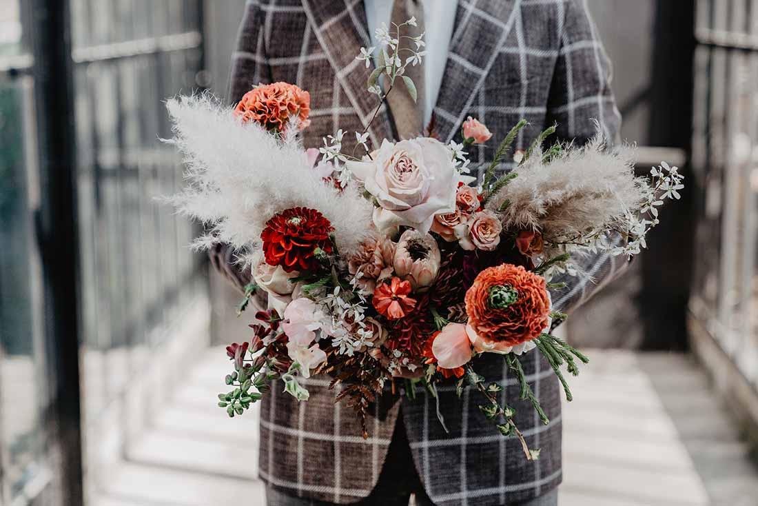 Bruidsboeket voor een Bohemian bruiloft