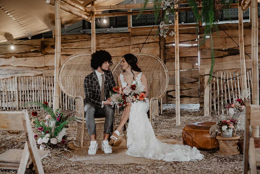 Peacock stoelen voor bruiloft