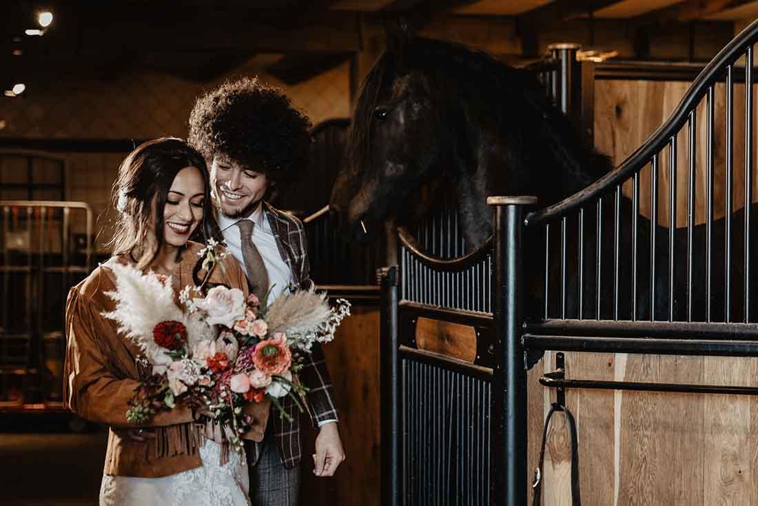 Trouwen op een paardenboerderij