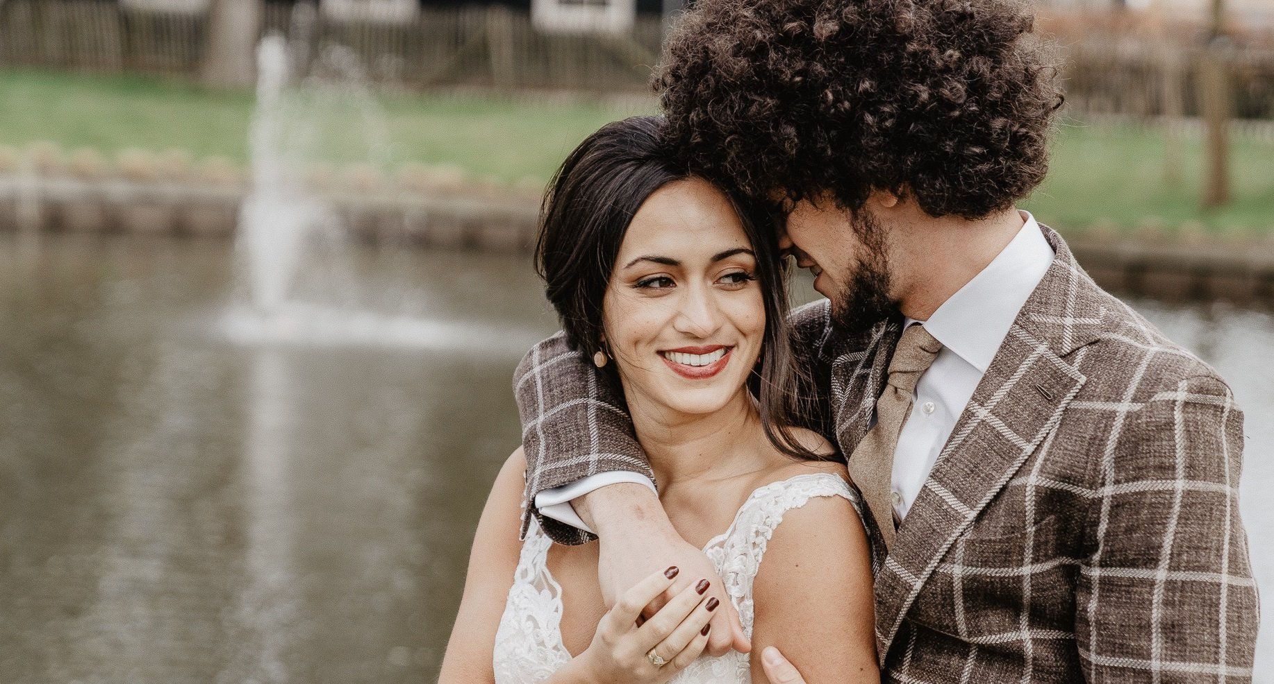 Bruidspaar net getrouwd