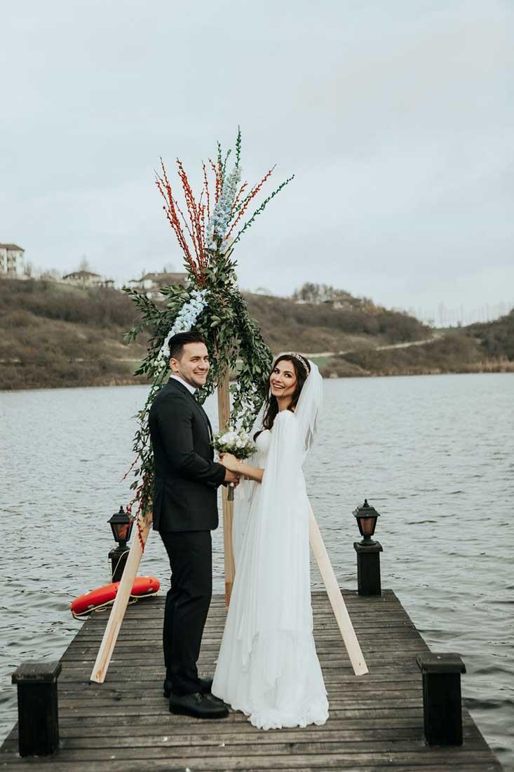 3D backdrop voor bruiloft in de vorm van een tipi