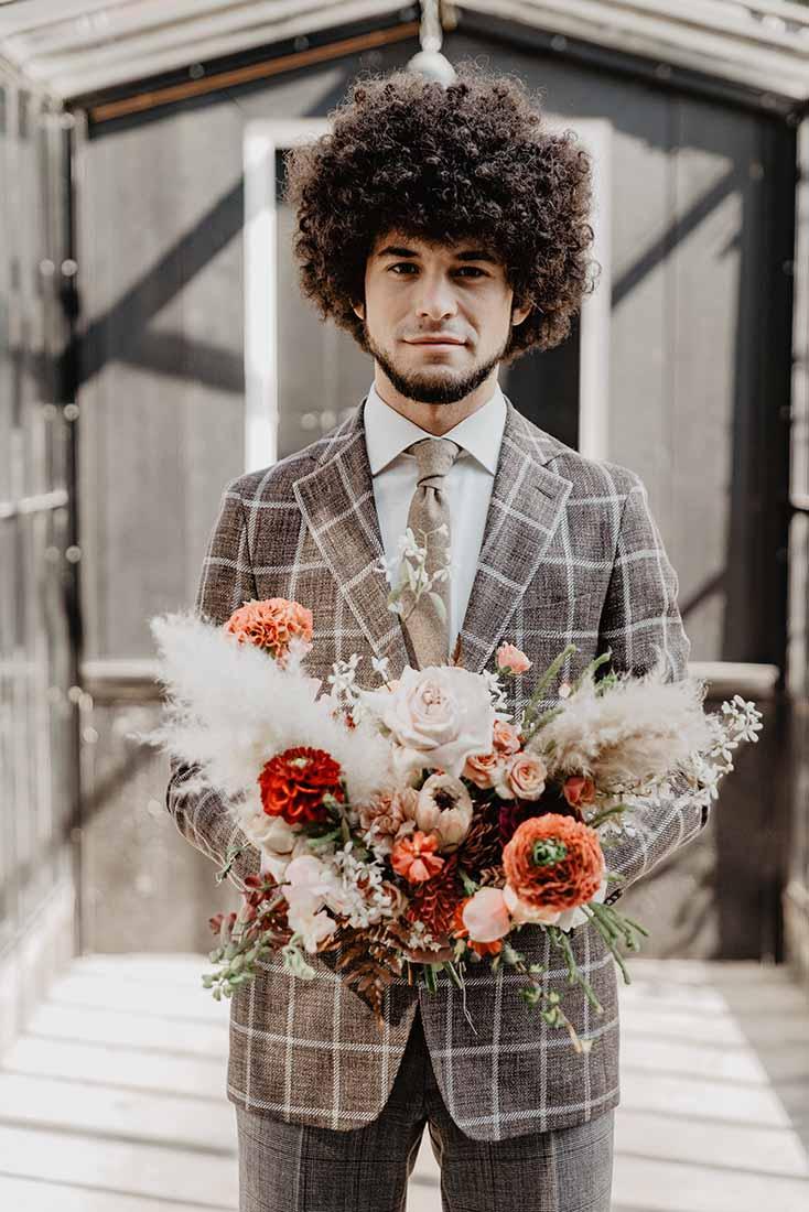 Bruidsboeket in de stijl en het thema van je bruiloft
