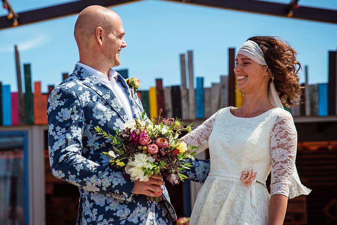 Bruidsboeket in de stijl van de bruiloft