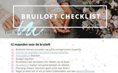 Jullie bruiloft plannen? Gebruik een bruiloft checklist!