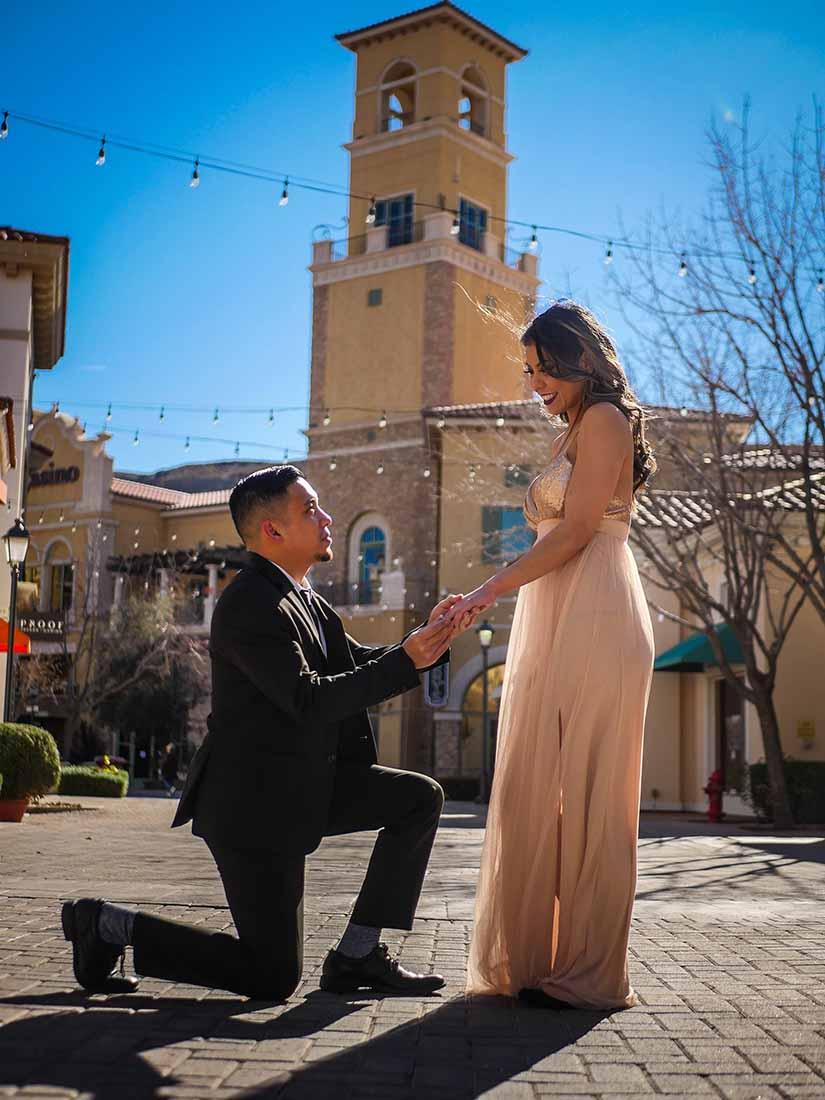 Romantisch huwelijksaanzoek