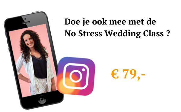 Aanmelden No Stress Wedding Class