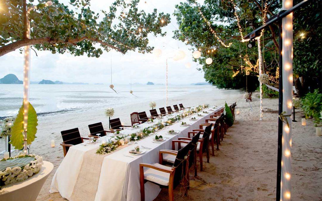 Kleine en intieme bruiloft aan zee